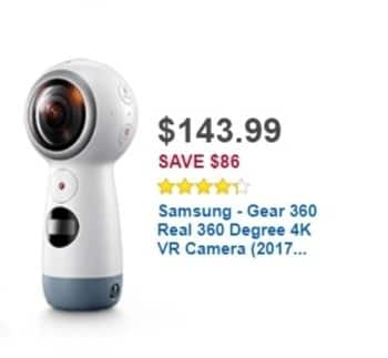 Best Buy Weekly Ad: Samsung Gear 360 4K VR Camera for $229.99
