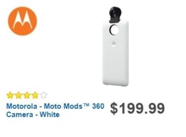 Best Buy Weekly Ad: Motorola - Moto Mods™ 360 Camera - White for $199.99