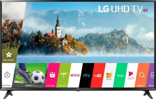 "Best Buy Weekly Ad: LG - 49"" Class LED UJ6300 Series 4K UHD Smart TV with HDR for $429.99"