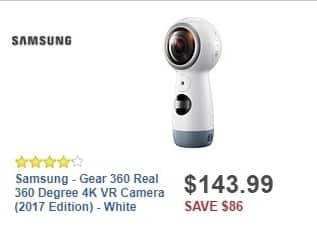 Best Buy Weekly Ad: Samsung Gear 360 for $143.99