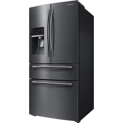 Best Buy Weekly Ad: Samsung - 24.73 Cu. Ft. 4-Door Flex French Door Refrigerator- Black Stainless Steel for $2,199.99