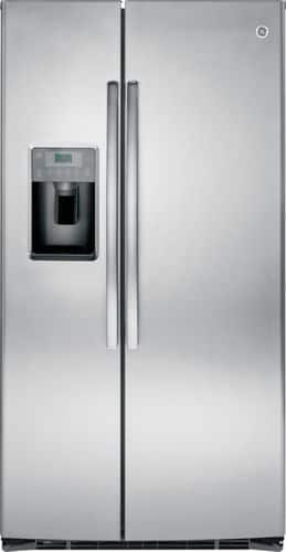 Best Buy Weekly Ad: GE - 25.4 cu. ft. Stainless Steel Side-by-Side Refrigerator with Thru-the-Door Ice and Water for $1,299.99