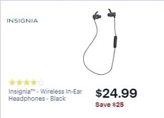 a31afc16baf Best Buy Weekly Ad: Insignia - Wireless In-Ear Headphones for $49.99 ...