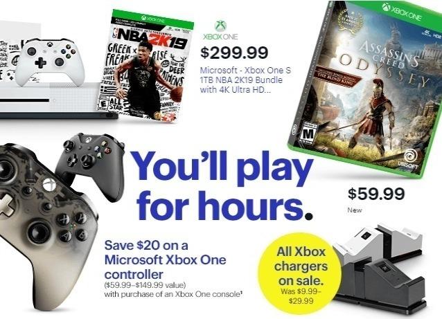 Best Buy Weekly Ad: Microsoft - Xbox One S 1TB NBA 2K19
