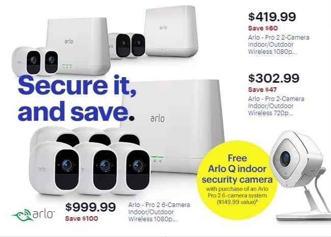 Best Buy Weekly Ad: Arlo - Pro 2 6-Camera Indoor/Outdoor Wireless