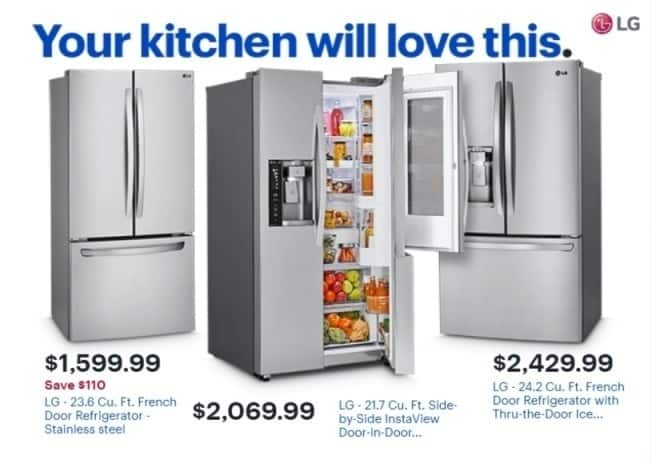 Best Buy Weekly Ad Lg 242 Cu Ft French Door Refrigerator With