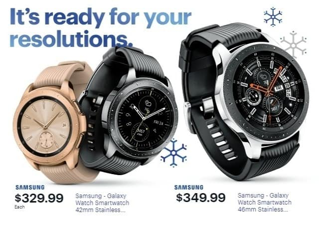 Best Buy Weekly Ad Samsung Galaxy Watch Smartwatch 42mm Stainless