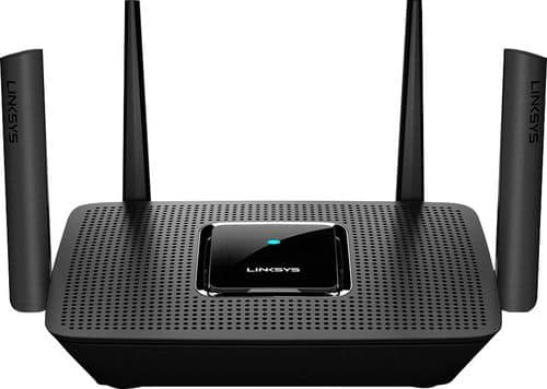 Best Buy Weekly Ad: Linksys - MR8300 Max Stream AC2200 Tri-Band Mesh Wi-Fi Router - Black for $149.99