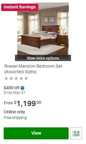 Sam\'s Club Weekly Ad: Rowan Mansion Bedroom Set (Assorted ...
