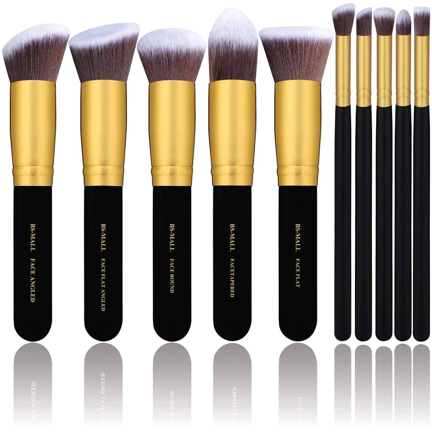10 Piece Kabuki Cosmetics Makeup Brush Kit $5.99 AC Free Ship With Amazon Prime
