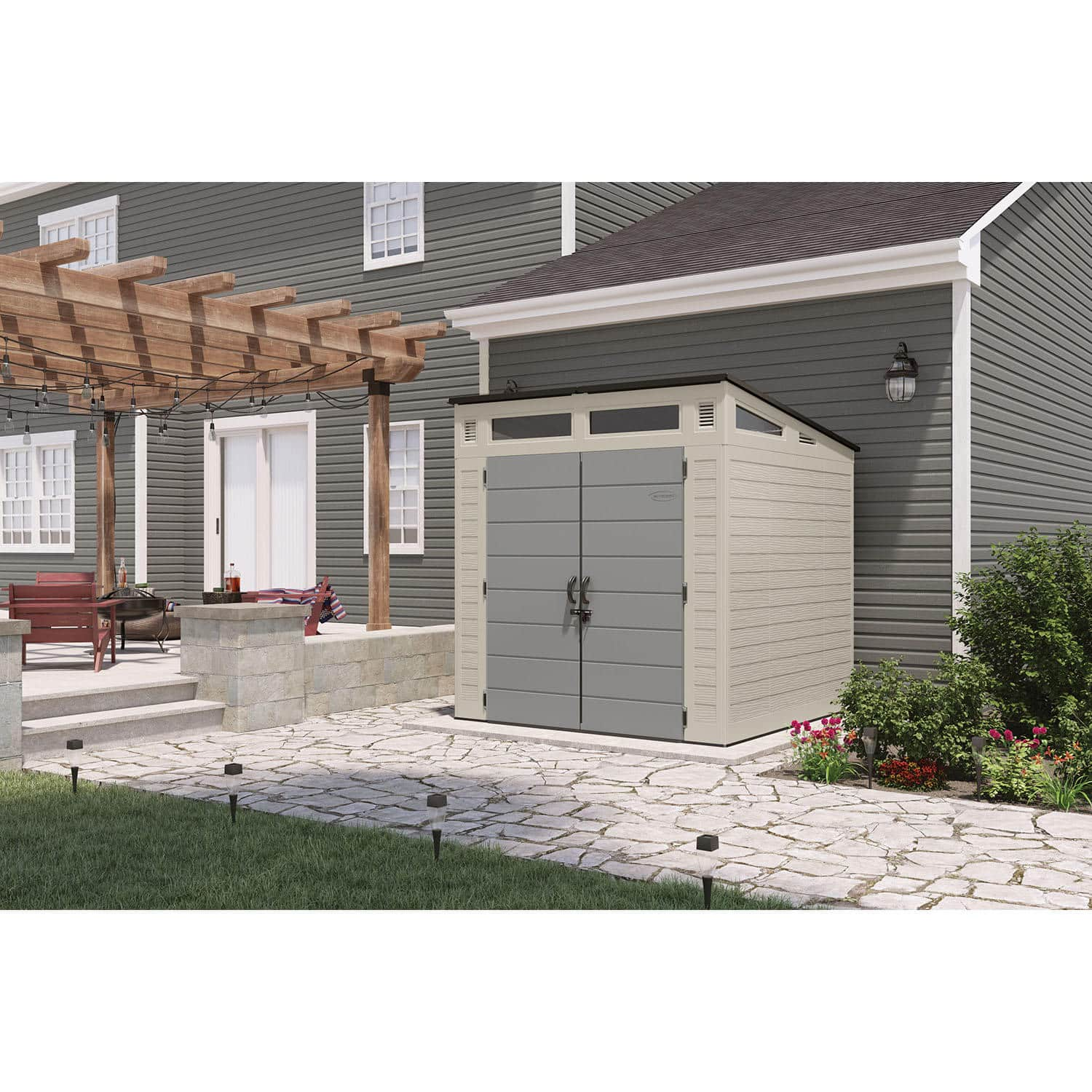 Suncast 7x7 Modernist Resin Storage Shed - $749 Shipped from Sam's Club