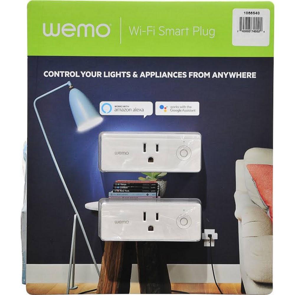 Costco Members Wemo Wifi Mini Smart Plug 2 For 39 99 In