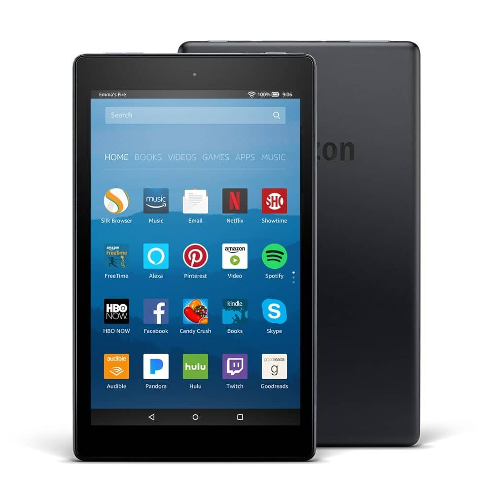 """Amazon Fire HD 8 Tablet (Includes Special Offers), 8"""" HD Touchscreen IPS Display, Quad-Core Processor, Dual-Band 802.11n, FireOS 5 -$39.99- $49.99+ $5 shipping @woot (refurbished)"""