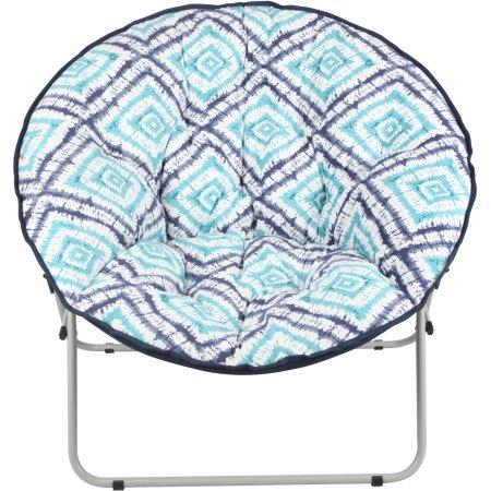 Mainstays Oversize Saucer Chair, Tie Dye Diamond- $19.97 FS on $35+ @Walmart
