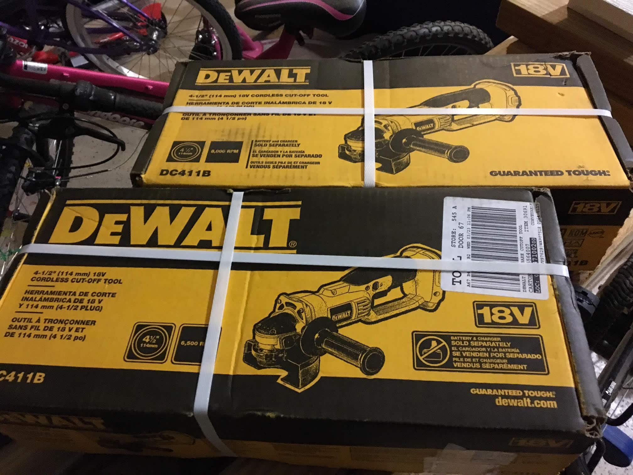 DEWALT 18-Volt NiCd Cordless 4-1/2 in. (114 mm) Cut-Off Tool (Tool-Only) $17.34