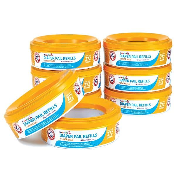 Munchkin Arm and Hammer Diaper Pail Refill Rings, 2,176 Count $23.37