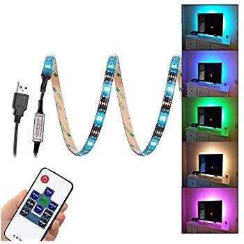WenTop USB Led Light Strip with Flexible Tape with Remote Control $5.60 @Amazon