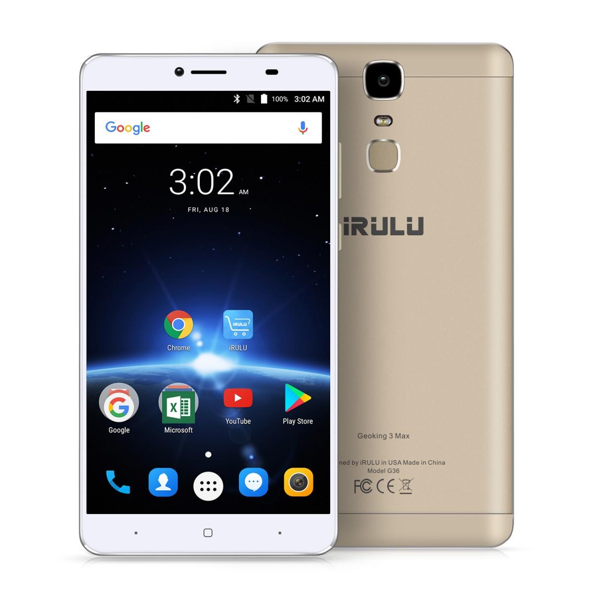 iRULU GeoKing 3 Max Smartphone (G3 Max) $149.99 @irulu