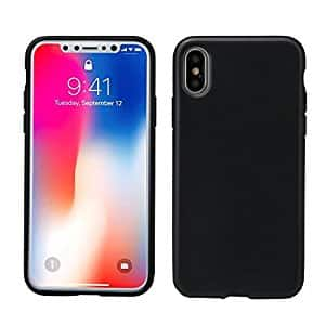 iPhone X case, AnsTOP Soft Matte Silicone Gel Rubber Ultra Slim Anti-scratch Shock Absorbing Protective Cover for $3.60 @Amazon