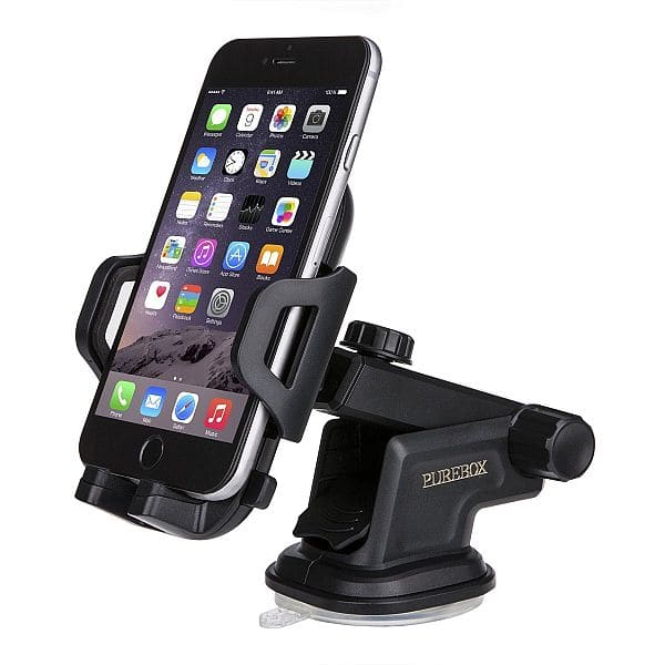 Purebox Car Phone Holder Universal Windshield Dashboard Truck Phone Mount Holder for $7.49 @Amazon