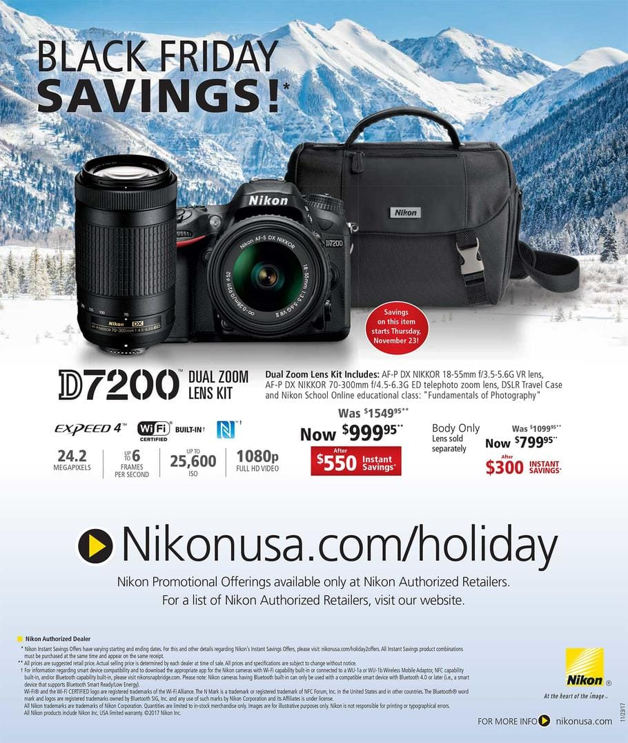 Nikon D7200 New Body only (USA) for $800