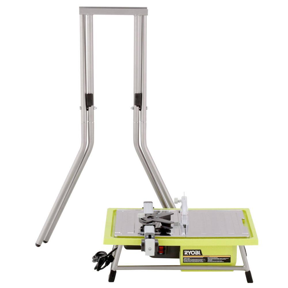 Ryobi 7 in. 4.8 Amp Tile Saw with Stand $99