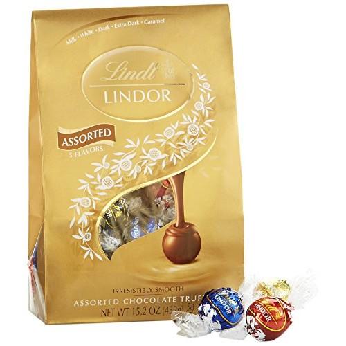 Lindt LINDOR Assorted Chocolate Truffles, Kosher, 15.2 Ounce Bag $8.88 Add on item@amazon