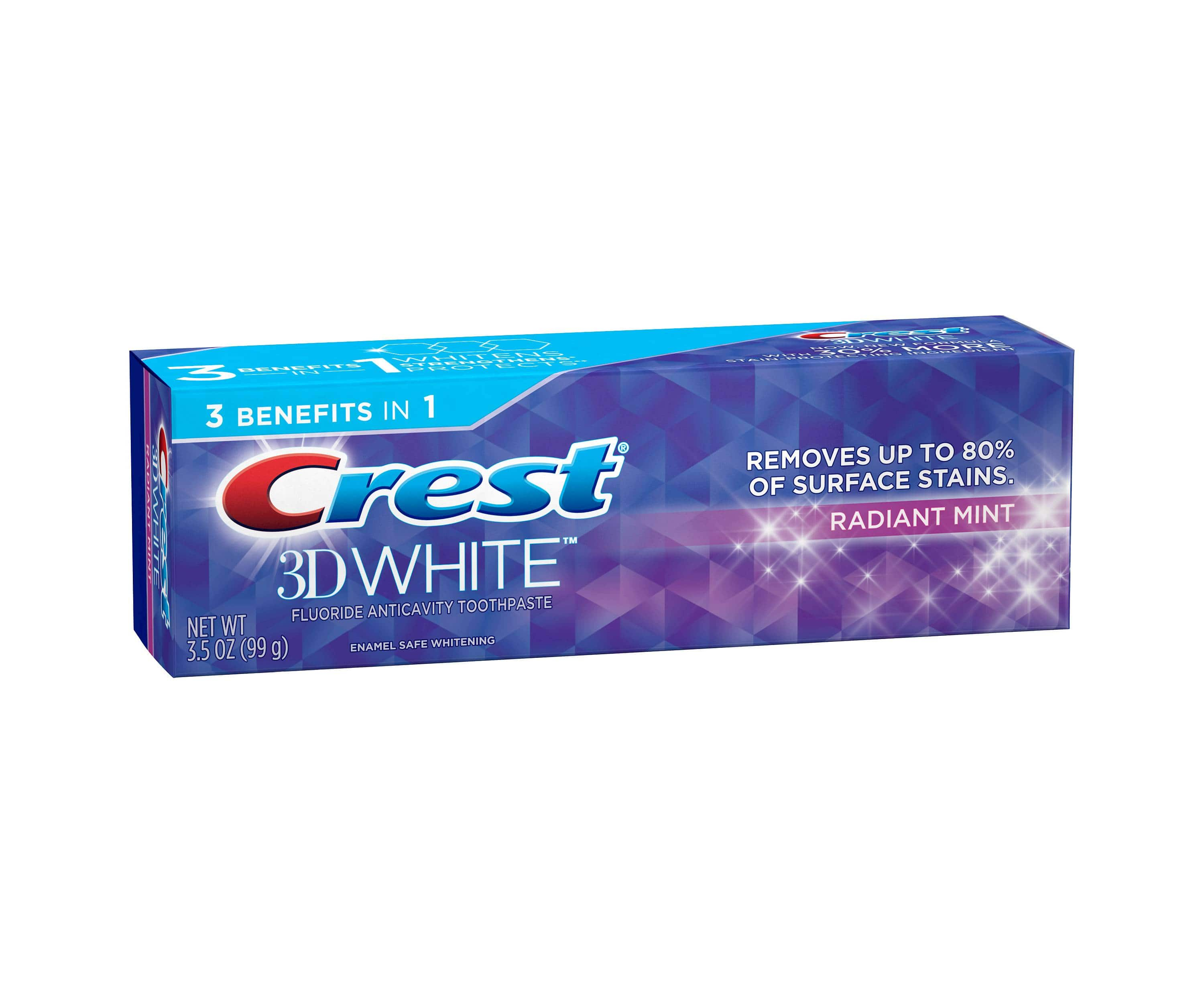 Crest 3D White Whitening Toothpaste Radiant Mint $0.99 AC
