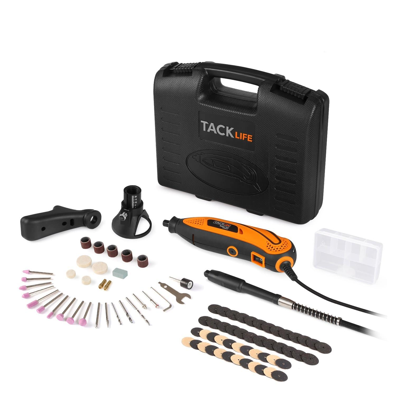 Tacklife Rotary Tool Kit with 80 Accessories and 3 Attachments $28 Lightning Deal @ Amazon