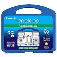 Panasonic KJ17MCC82A Eneloop Power Pack for 8AA, 2AAA, 2 C Spacers, 2 D Spacers, Advanced Individual Battery Charger for $  29.99