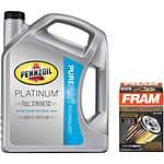 Pennzoil Platinum 5 Qt. Motor Oil + Fram Ultra Synthetic Oil Filter Bundle $29.88 @ Walmart.com + $2 Fram Rebate