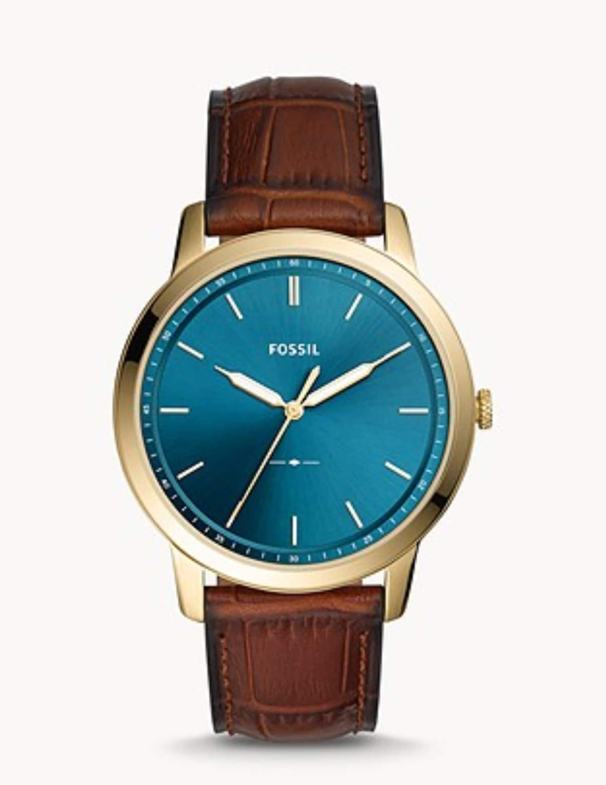 Fossil - The Minimalist Three-Hand Brown Leather Watch 40% off with promo code SNOWGOOD $49.98