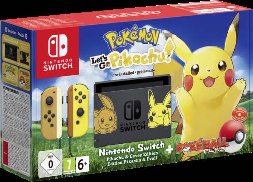 Eu Edition Nintendo Switch Console Pikachu Amp Eevee With Pokemon