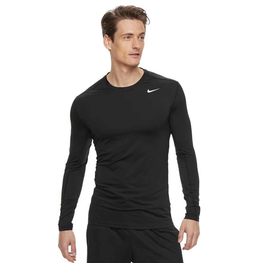 Nike Men's Nike Dri-FIT Base Layer Long-Sleeve Fitted Cool Top $9.60 + Free Ship for Kohl's Cardholders