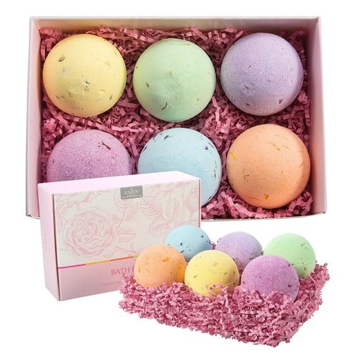Anjou 6-Pack Bath Bombs Gift Set $10.99 @Amazon