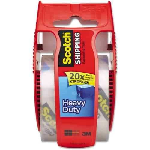 Add-on Item: Scotch Heavy Duty Shipping Packaging Clear Tape (Red Dispenser) $2.97 @Amazon