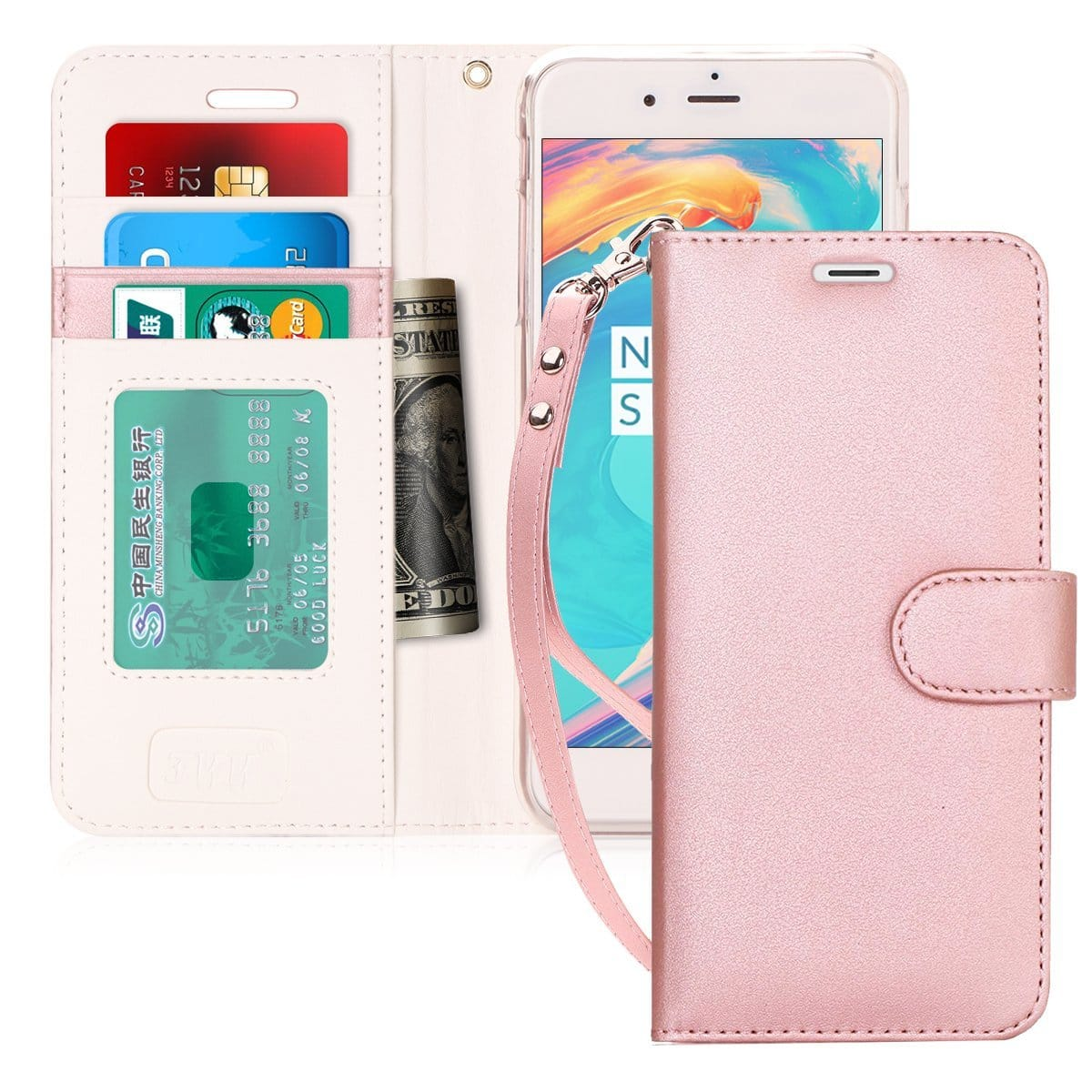 finest selection 22212 67471 iPhone 7/8 Plus Wallet Case (Rose Gold) $3.6 @Amazon - Slickdeals.net