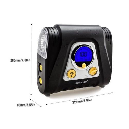 AUTO-VOX AC2 Digital Tire Inflator 100PSI with 5 Nozzle Adaptors For Tires Balls $26.5 +FS @Amazon