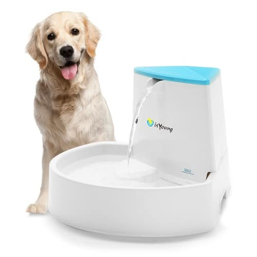 Dog Fountain, isYoung Pet Fountain Automatic Water Dispenser for $19.59 @Amazon