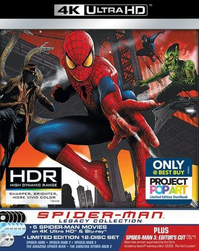 Spider-Man Legacy Collection Steelbook (4K UHD + Blu-ray) $50 + Free Shipping