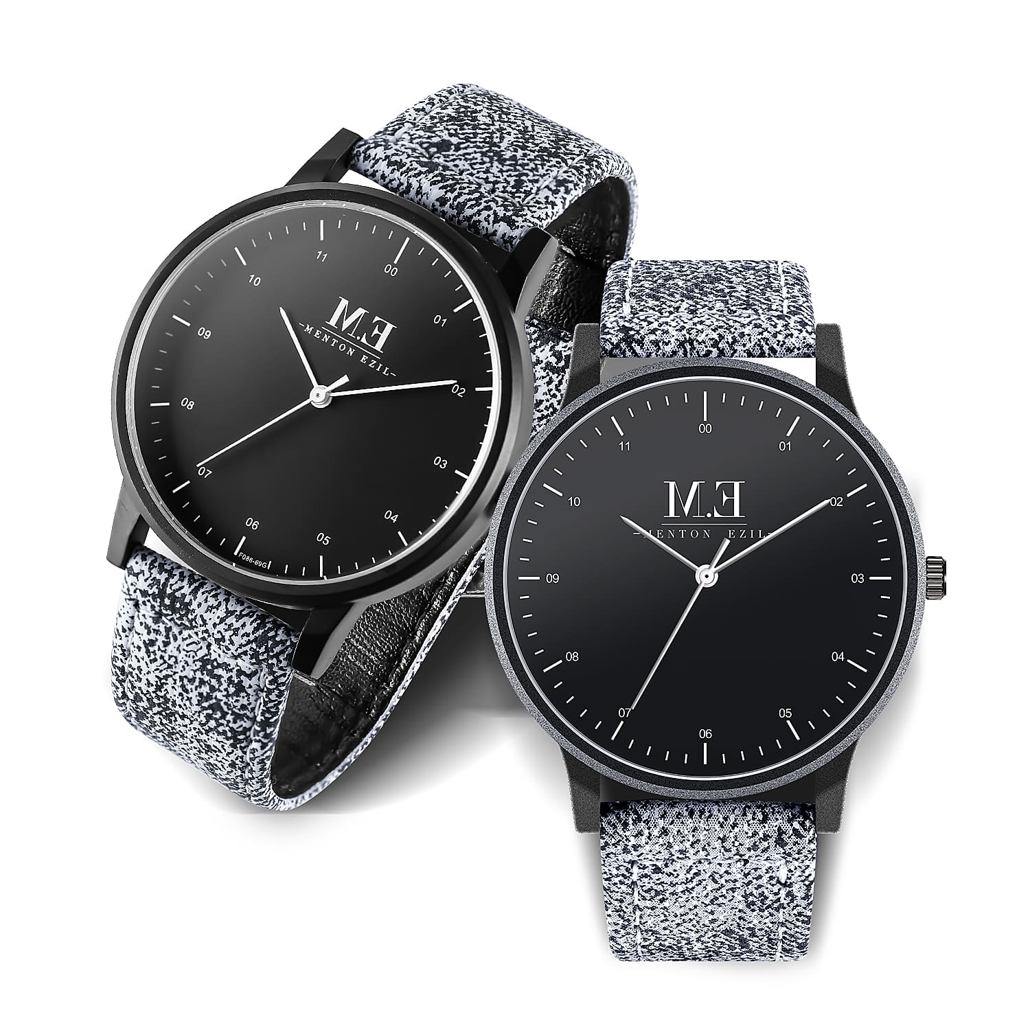 Couple Wrist Watches Gift Set, Leather Bracelet Men Women Quartz WristWatches,Set of 2 $14.99