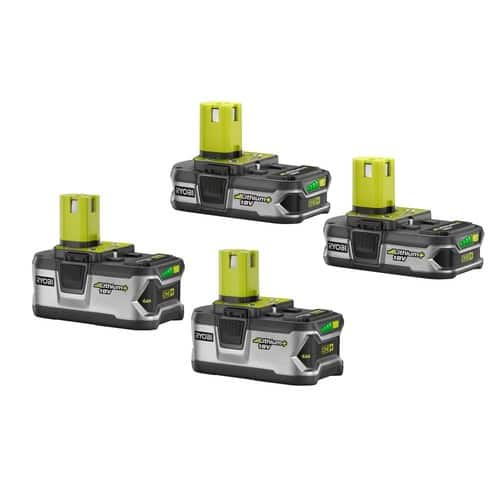 Ryobi 18-Volt ONE+ Lithium-Ion Battery Kit (4-Pack) $149