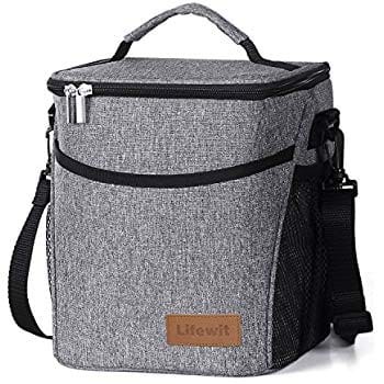 Insulated Leakproof Water-resistant Lunch Bag, Grey 9L 55% off $9.90
