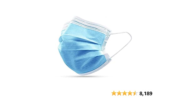 3ply Disposable Face Mask, 50 Count - $1.99