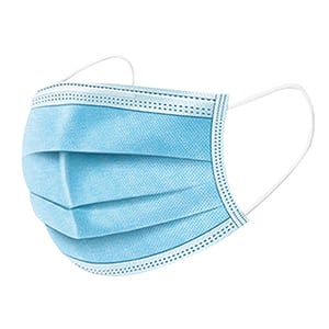 """Medical Face Mask with Earloop-3Ply, Blue , 6.7""""x 3.5""""(17X9cm) ,50 Pcs/Box - $1.99"""