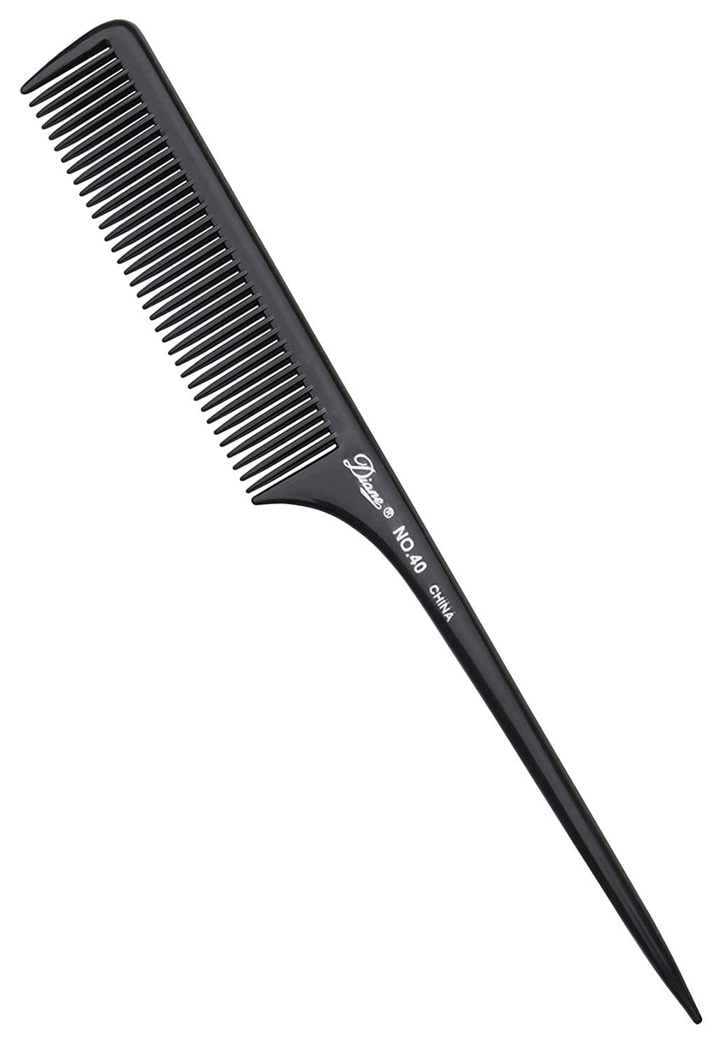 "Diane 9"" Thick Rat Tail Comb, Bone/Black (assorted colors) $0.66"