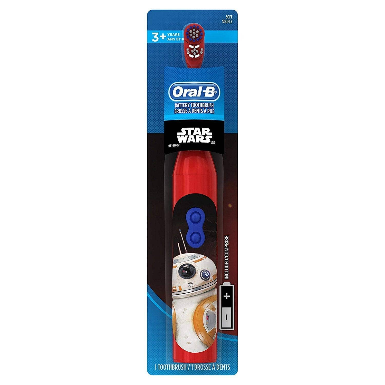 Oral-B Kids Battery Powered Electric Toothbrush Featuring Disney STAR WARS with Extra Soft Bristles, for Children and Toddlers age 3+ 3 For $9.78