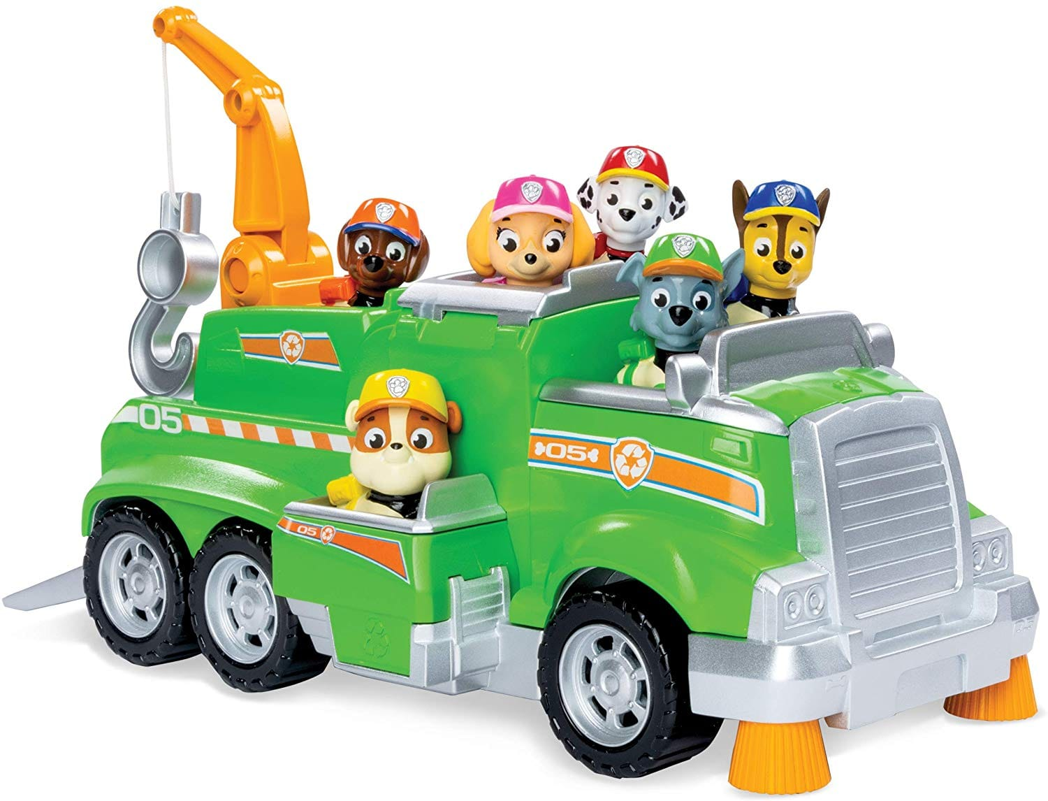 Paw Patrol, Rocky's Total Team Rescue Recycling Truck with 6 Pups, for Kids Aged 3 & Up [] $15