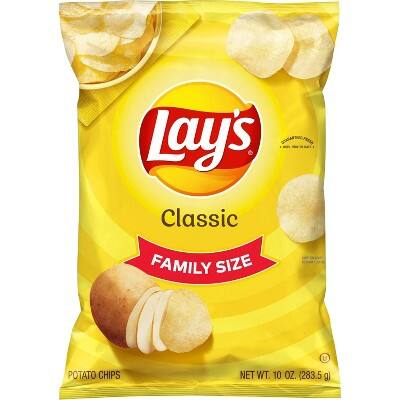 Lay's Family Size Potato Chips (various flavors)