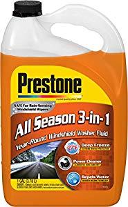 Prestone AS658 Deluxe 3-in-1 Windshield Washer Fluid, 1 Gallon $3.49